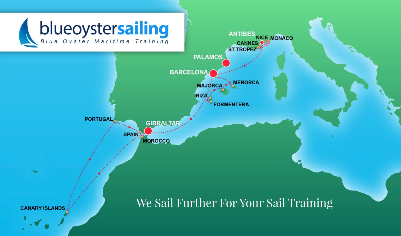 Blue Oyster Sailing Map Image