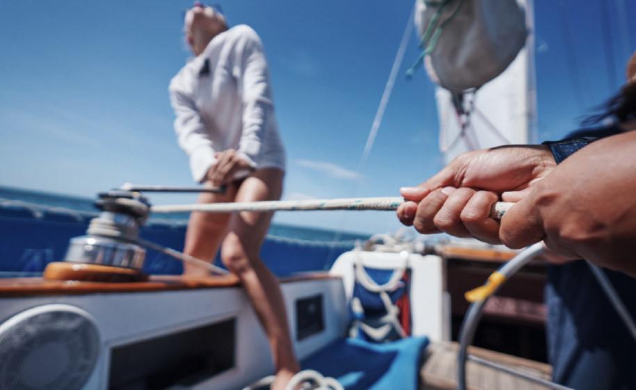 People Sailing Image